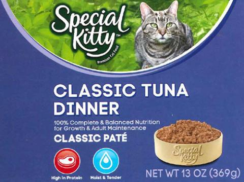 Label, Special Kitty Classic Tuna Dinner