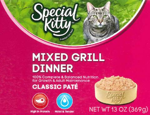 Label, Special Kitty Mixed Grill Dinner