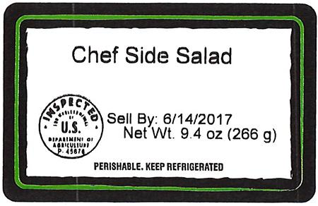 Chef Side Salad, Net Wt. 9.4 oz