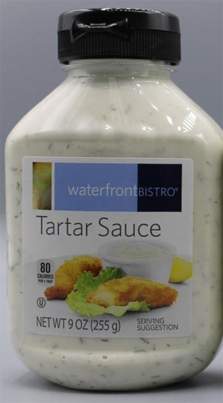 """Front label, waterfront BISTRO Tartar Sauce, 9 oz."""
