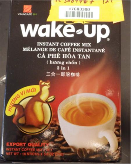 WAKE-UP Instant Coffee Mix, front label