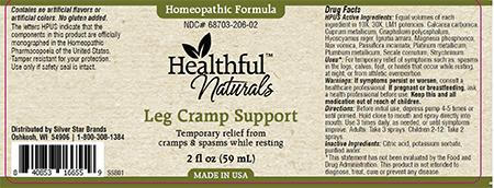 Homeopathic Formula, Healthful Naturals, Leg Cramp Support, 2 fl oz (59 mL)