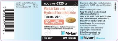 Label, Valsartan and Hydrochlorothiazide Tablets, 320mg/25mg