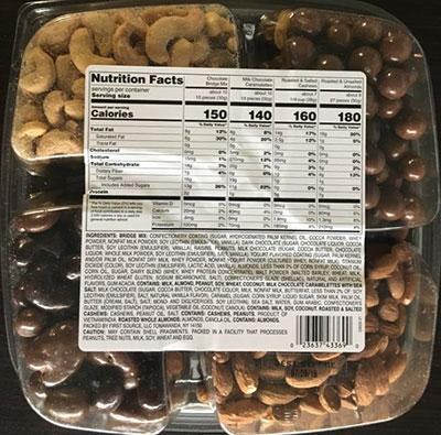 Back Label, Chocolate and Nut Tray