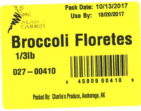 Label, Broccoli Floretes