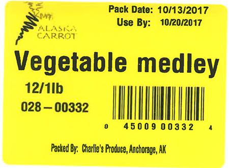 Label, Vegetable medley
