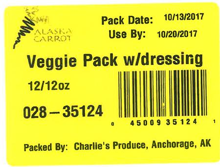 Label, Veggie Pack w/ dressing