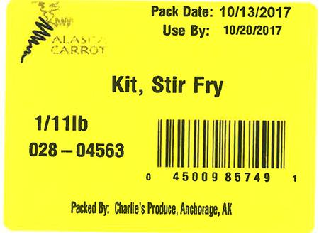 Label, Kit, Stir Fry