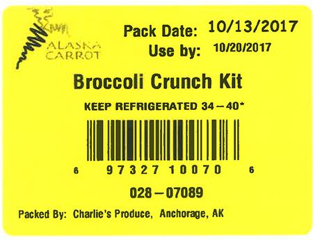 Label, Broccoli Crunch Kit