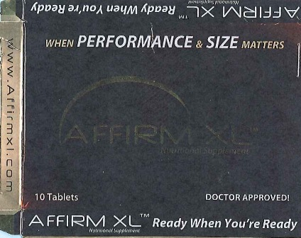 AFFIRM XL Packaging — Front