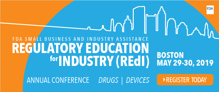 Regulatory Education for Industry (REdI) Annual Conference May 29-30, 2019