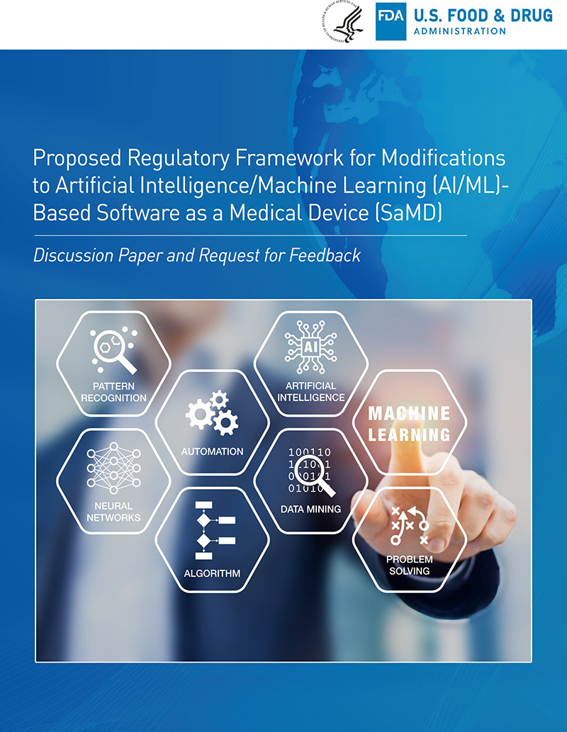 US FDA Artificial Intelligence and Machine Learning Discussion Paper Cover Page