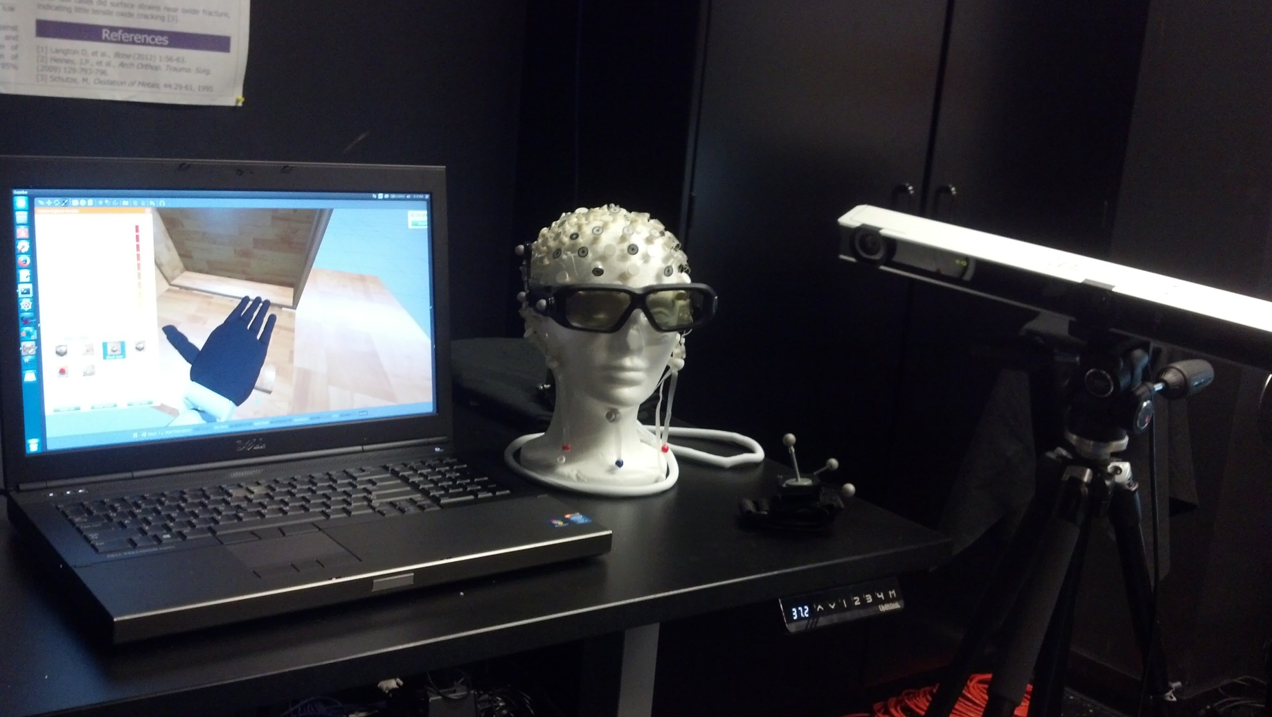 Image of a virtual environment for studying prosthetic function