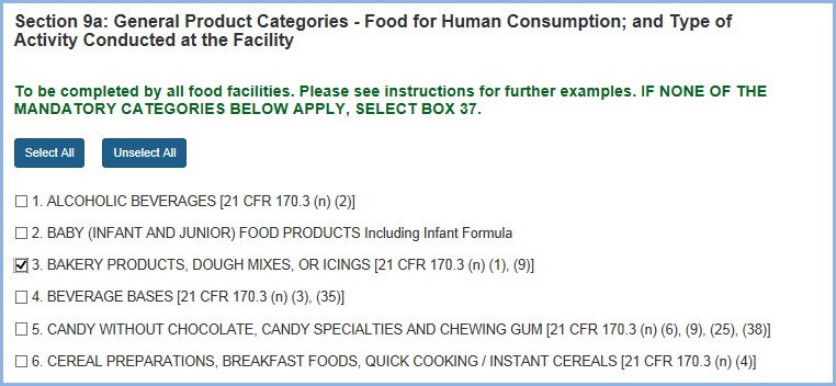 Food Facility Registration Step-by-Step Instructions Figure 14a