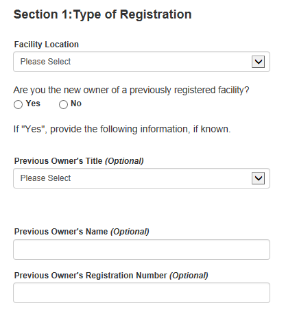 Food Facility Registration Step-by-Step Instructions Figure 5