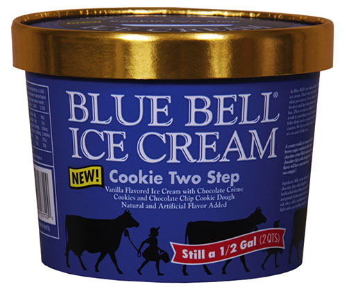 Product image front view BLUE BELL ICE CREAM Cookie Two Step (half gallon/2QTS)