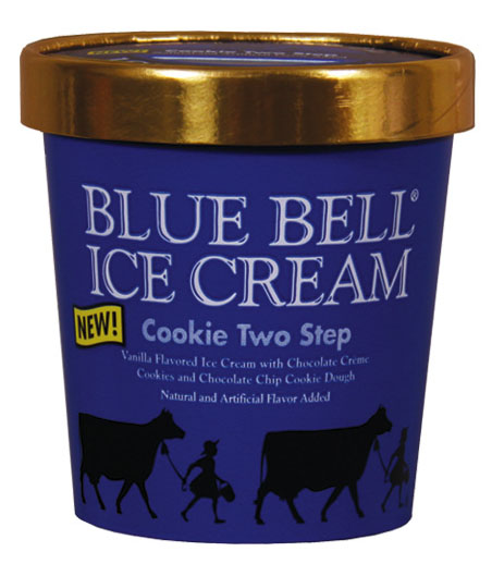 Product image front view BLUE BELL ICE CREAM Cookie Two Step (Pint)