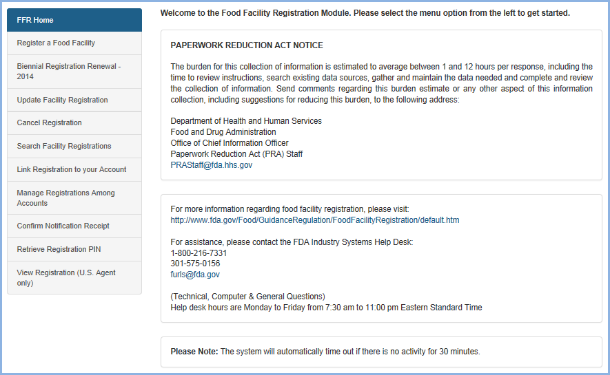 fa3b8755e3 Food Facility Registration User Guide Retrieve Registration PIN Figure 1