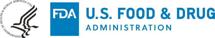 Black HHS-Blue FDA Logo