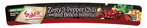 Sabra, Zesty 3-Pepper Chili with Red Beans Hummus