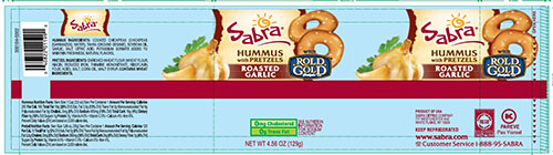 ROLD GOLD, SABRA HUMMUS with PRETZELS, ROASTED GARLIC