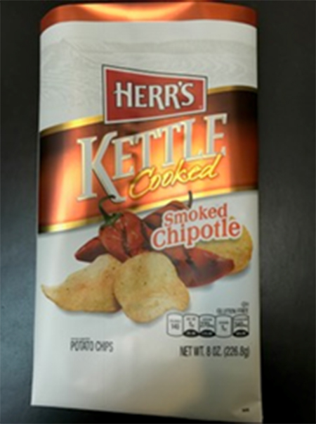 Picture, Herr's Kettle Cooked Smoked Chipotle Potato Chips, 8 oz