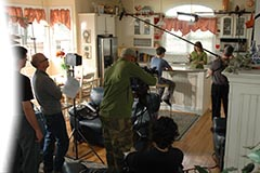 FDA Studio's field production team recording a food safety program.