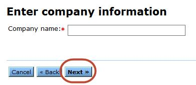 Enter Company Information