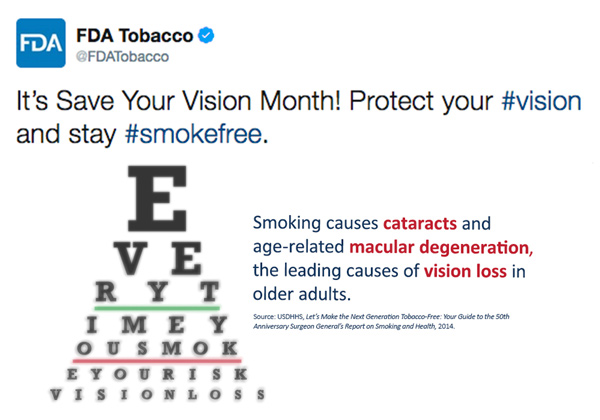 FDA Tweet - Vision Month