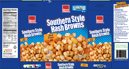 Harris Teeter Southern Style Hash Browns, NET WT. 32 OZ. (2LB) 907 g