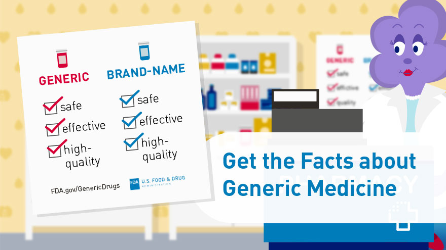 Get the Facts about Generic Medicine -  infocard 6