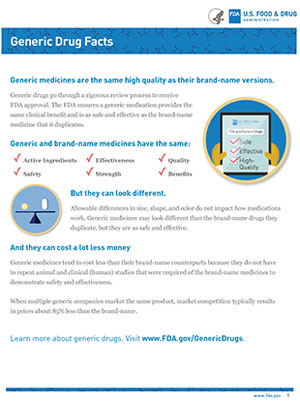 Generic Drugs Fact Sheet