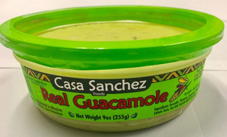 Casa Sanchez Foods, Real Guacamole, 9 oz., UPC # 0 78732 00412 2