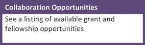 Collaboration Opportunities: See a listing of available grant and fellowship opportunities