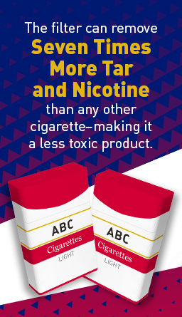 Health fraud example displaying a tobacco ad stating, filters can remove seven times more tar and nicotine, making a less toxic product.