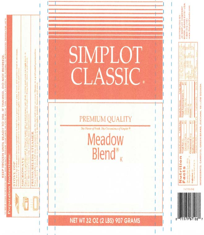 Simplot Classic Meadow Blend, 32 oz., individual bag label