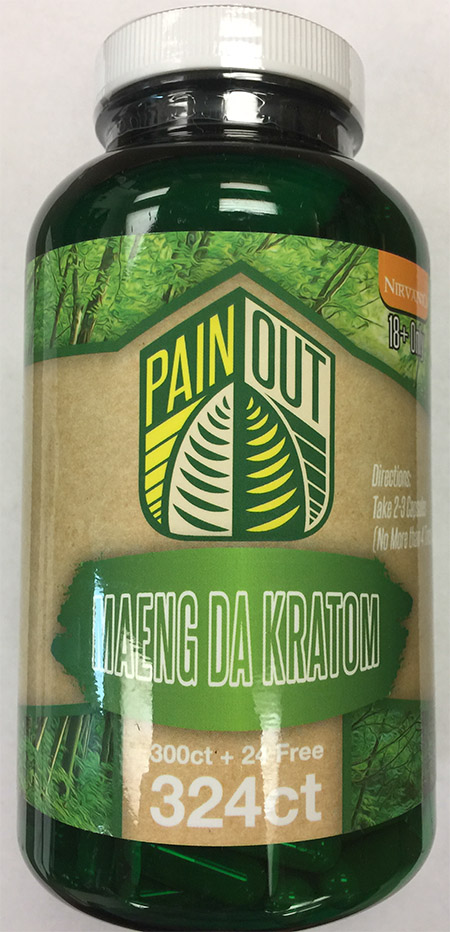Product image: Pain Out Maeng Da Kratom 324 count bottle