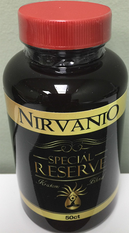 Product image: Nirvanio Special Reserve Kratom 50 count bottle