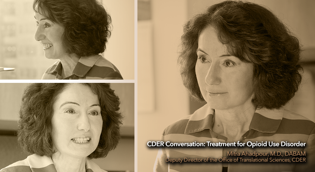 Photos of Dr. Mitra Ahadpour for CDER Conversation