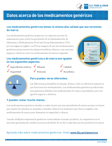 Spanish Generics Fact Sheet