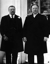 Image of Teddy Roosevelt - the left and William Howard Taft - the right