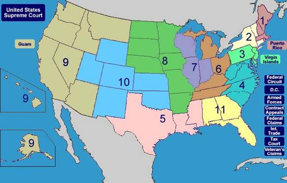 2 1 The Us Federal Judicial System Fda - Us-supreme-court-map