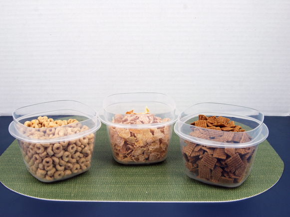 Image of 3 bowls of cereal