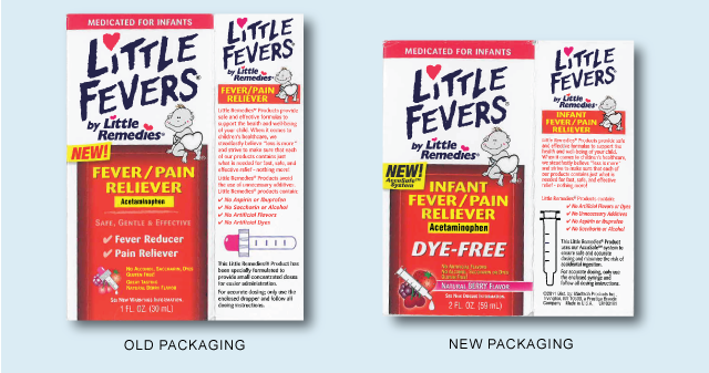 Infant Acetaminophen containers