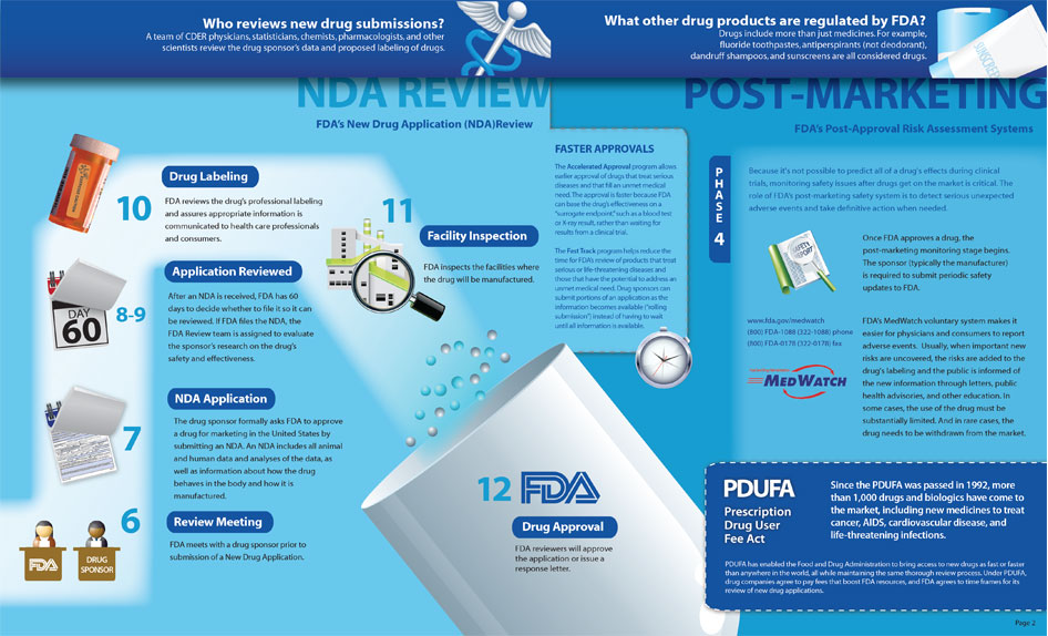Link to PDF version (FDA Drug Approval Process Infographic - Page 2)