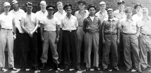 Group picture of men in casual civilian clothing