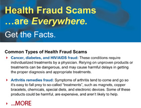 Health Fraud - Fact Sheet