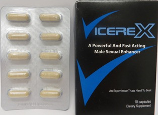 Vicerex capsules and front label