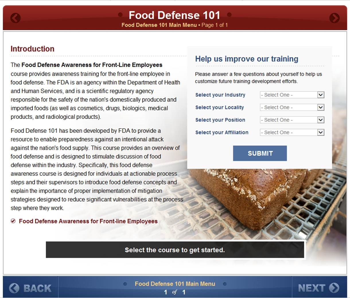 Food Defense 101