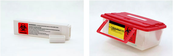 Image of portable sharps containers
